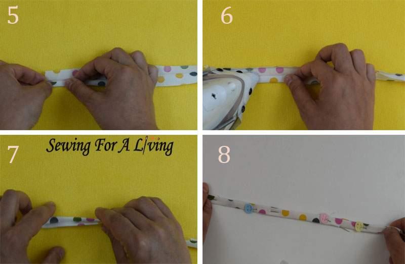 add belt loops to a dress